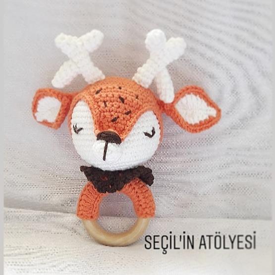 Amigurumi Sevimli Köpek Diş Kaşıyıcı & Çıngırak Bebek Hediyesi ... | 555x555