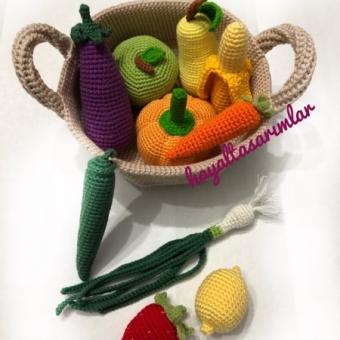 Amigurumi Meyve Sebze Sepeti