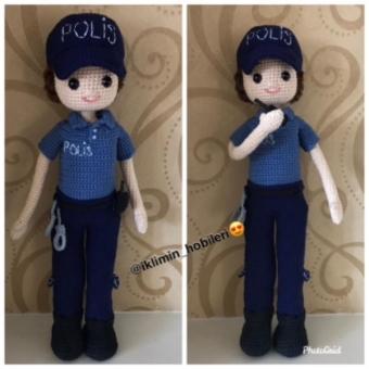 Amigurumi Polis Oyuncak