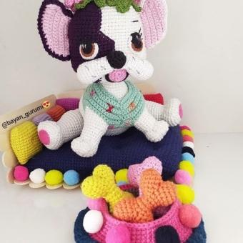 Amigurumi köpek oyuncak seti