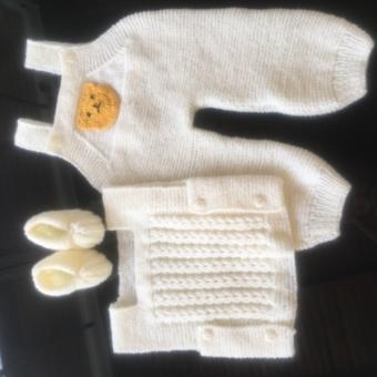 Bebek Tulumu-yelek- patik takımı