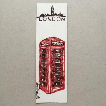 Suluboya Kitap Ayracı (London)