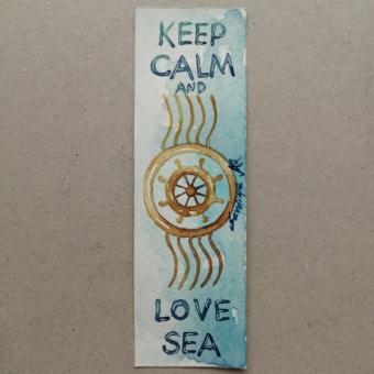 Suluboya Kitap Ayracı (Love Sea)