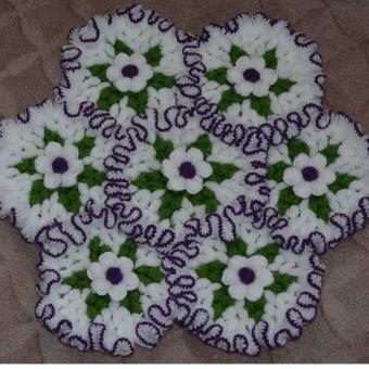 Fırfırlı çiçek bahçesi lif