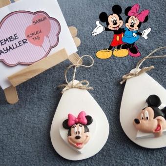 Kokulu Taş Minnie ve Mickey Mouse