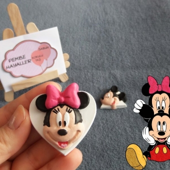 Kokulu Taş Minnie ve Mickey Mouse Magnet