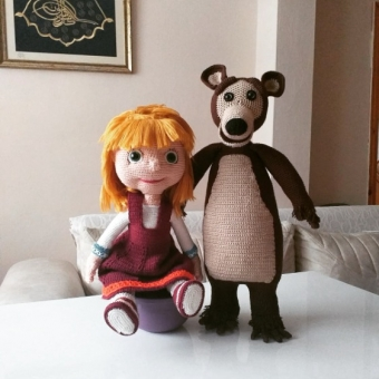 Amigurumi Maşa ile Koca Ayı