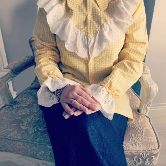 Sarı pitikareli gömlek
