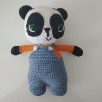 örgü oyuncak panda