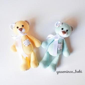 Amigurumi Uyku Arkadaşı Ayı Teddy