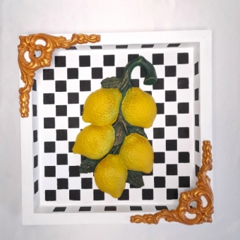 Limonlu Ahşap Pano
