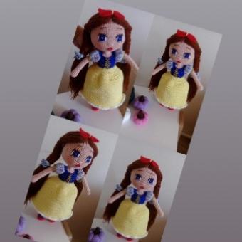 Amigurumi prenses oyuncak