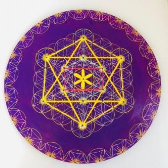 Mandala Akrilik El Yapımı Tablo