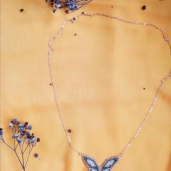 Miyuki kelebek kolye