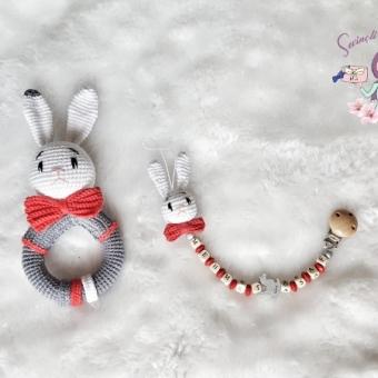 Tavşan Çıngırak ve Emzik Zinciri Takımı