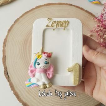 Unicorn çerçeve magnet