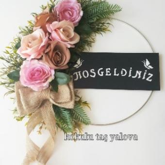Dekoratif Çiçekli Kapı Süsü