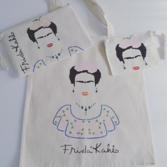 Frida desenli el boyama çanta takımı