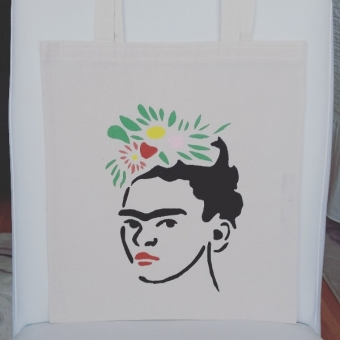 El boyama Frida desenli bez çanta