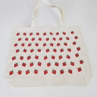 Çilekli alışveriş çantası