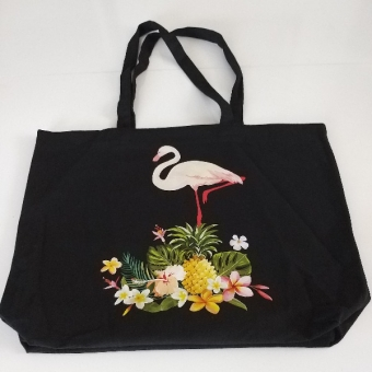 Flamingo desenli çanta