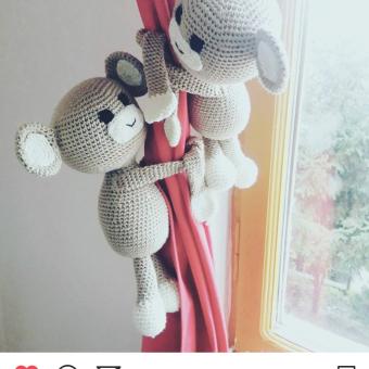 Perde Süsü Maymunlar