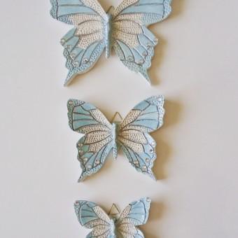 Kelebekler duvar süsü