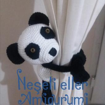 Perde Süsü Amigurumi Panda