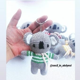 Amigurumi Koala Anahtarlık
