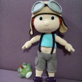 Amigurumi pilot bebek