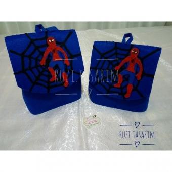 Keçe Spiderman Çanta