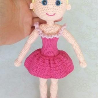 amigurumi balerin bebek