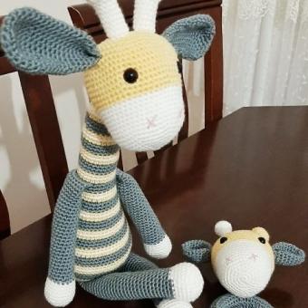 Amigurumi zürafa set