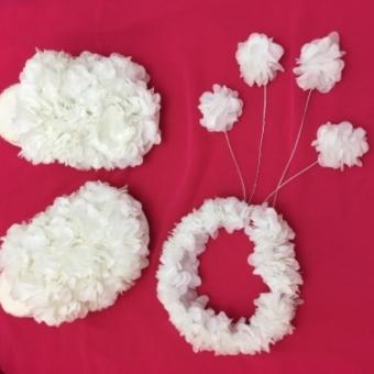 Sarkıtlı Taçlı Çiçekli Lohusa Set