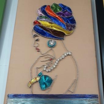 Filografi tablo afrikalı kız