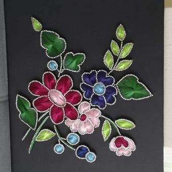 Filografi tablo çiçek
