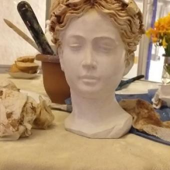 Helen büst dekoratif sukulent saksı