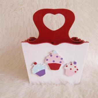 Ahşap Kaşıklık Cupcake-2