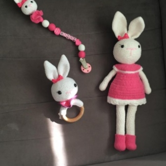 Amigurumi tavşan set