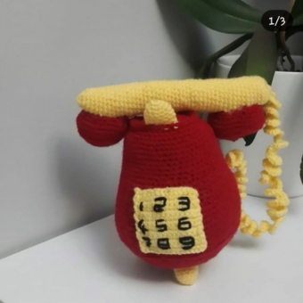 amigurumi telefon