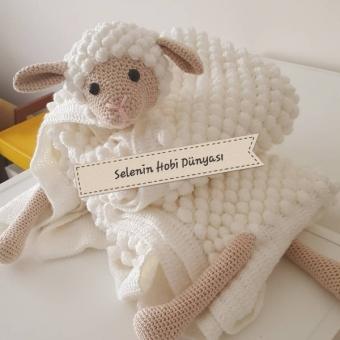 Amigurumi kuzulu battaniye