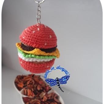 hamburger anahtarlik