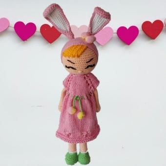 amigurumi bayan tavşan