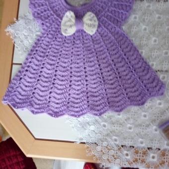 Örgü Bebek Elbise