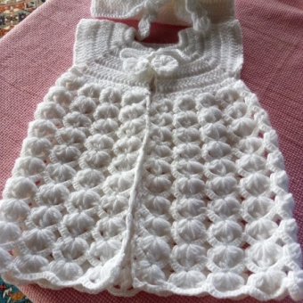 Örgü Bebek Elbise Bandana
