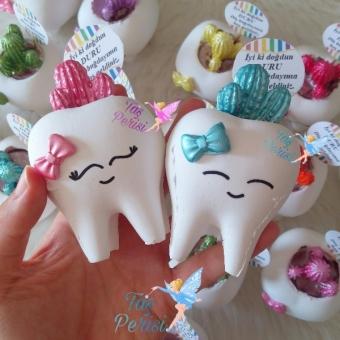 Kokulu Taş Diş Saksı Kaktüslü