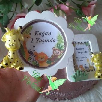Kokulu Taş Safari - Hayvan Konsept Çiçek Çerçeve Magnet