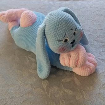 Amigurimi Mavi Tavşan
