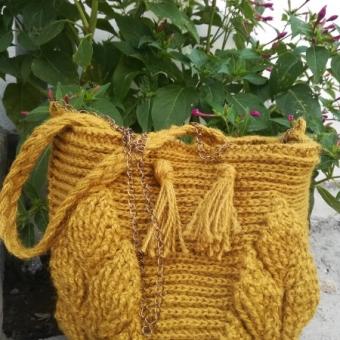 3d yaprak hasır çanta