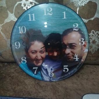Kişiye özel resimli duvar saati